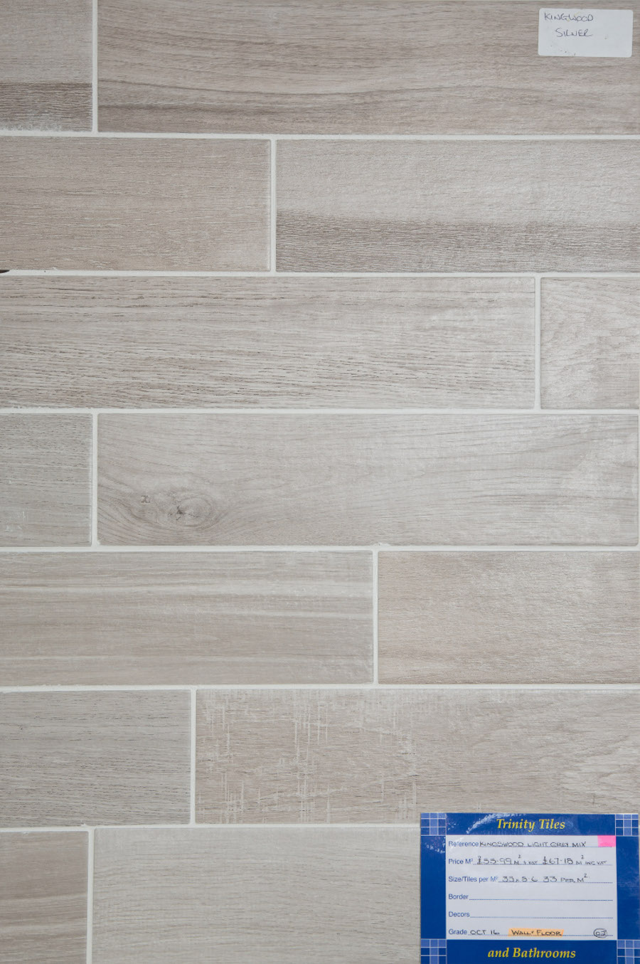 Kingswood Light Grey Mix 350x86 mm