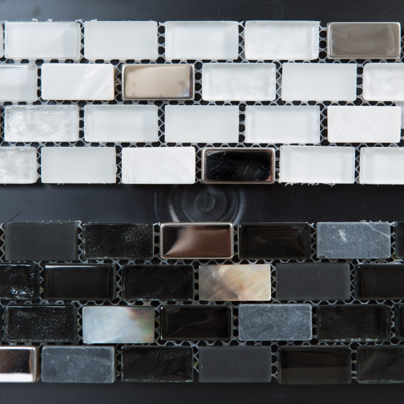 Blanco Glass and Black Glass 300x285 mm